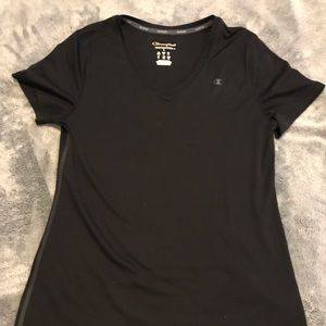 Black athletic tee shirt